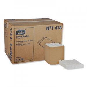 Tork Universal Dinner Napkins, 1-Ply, 17 x 17, 1/4 Fold, White, 4008/Carton TRKN7141A N7141A
