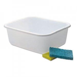 Rubbermaid Microban Dishpan, 4.5gal, White, 6/Carton RCP2951ARWHTCT 2951ARWHTCT