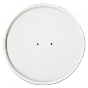 Dart Paper Lids for Food Containers, White, Vented, 25/Bag, 20 Bags/Carton SCCCH8A CH8A-4000