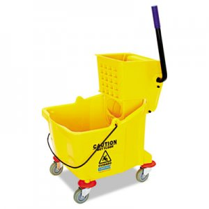 Flo-Pac Side-Press Bucket/Wringer Combo, 35 qt, Yellow CFS3690404 3690404