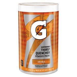 Gatorade Thirst Quencher Powder Drink Mix, Orange, 1.34oz Stick, Makes 20oz Drink, 64/Carton GTD13165 13165