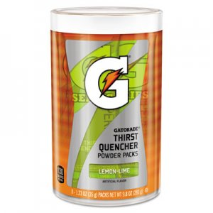 Gatorade Thirst Quencher Powder Drink Mix, Lemon-Lime, 1.34oz Stick, 8/Carton GTD13163 13163