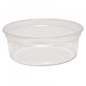 Dart MicroGourmet Food Container, 8 oz, Plastic, Clear, 500/Carton DCCMN80100 MN8-0100