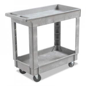 Boardwalk Utility Cart, Two-Shelf, 16w x 34d, Swivel Casters, Resin, Gray BWK3416UCGRA 3485206