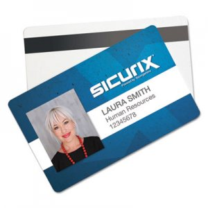SICURIX Blank ID Card with Magnetic Strip, 2 1/8 x 3 3/8, White, 100/Pack BAU80340