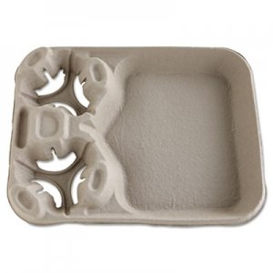 Chinet StrongHolder Molded Fiber Cup/Food Trays, 8-44oz, 2-Cup Capacity, 100/Carton HUH20990CT 20990