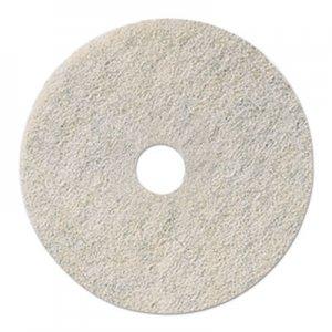 "Boardwalk Natural White Burnishing Floor Pads, 18"" Diameter, 5/Carton BWK4018NAT"