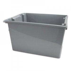 Rubbermaid Commercial Palletote Box, 19.45gal, Gray RCP1732GRA FG173200GRAY