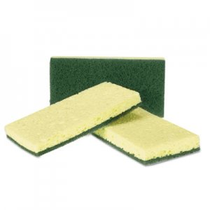 AmerCareRoyal Heavy-Duty Scrubbing Sponge, Yellow/Green, 20/Carton RPPS740C20 RPP S740C/20