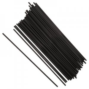 "Royal Paper Sip Straws, 7.5"", Black, 10000/Carton RPPS1525BK7 S1525BK7"