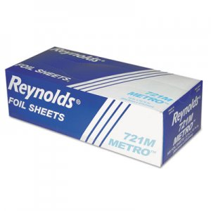 Reynolds Wrap Metro Pop-Up Aluminum Foil Sheets, 12 x 10 3/4, Silver, 500/Box, 6/Carton RFP721M 721M