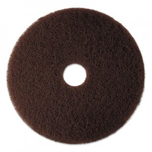 "3M Low-Speed High Productivity Floor Pad 7100, 16"" Diameter, Brown, 5/Carton MMM08444 7100"