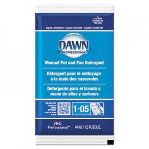 Dawn Professional Manual Pot/Pan Dish Detergent, Original Scent, 1.5 oz Packet, 120/Carton PGC01331 01331