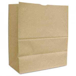 "Genpak Grocery Paper Bags, 66 lbs Capacity, 1/6 BBL, 12""w x 7""d x 17""h, Kraft, 500"