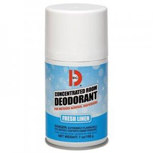 Big D Metered Concentrated Room Deodorant, Fresh Linen Scent, 7 oz Aerosol, 12/Box BGD472 047200