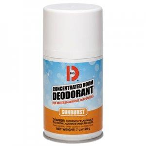 Big D Metered Concentrated Room Deodorant, Sunburst Scent, 7 oz Aerosol, 12/Carton BGD464 046400