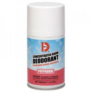 Big D Metered Concentrated Room Deodorant, Potpourri Scent, 7 oz Aerosol, 12/Carton BGD462 046200