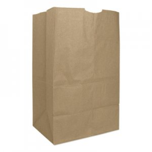"Genpak Grocery Paper Bags, 57 lbs Capacity, #20 Squat, 8.25""w x 5.94""d x 13.38""h"