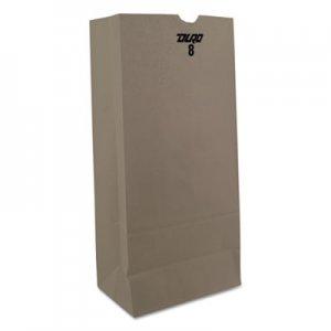 """Genpak Grocery Paper Bags, 8 lbs, 6.13"""" x 12.44"""", White, 2,000/Carton BAGGW8 BAG GW8"""
