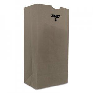 """Genpak Grocery Paper Bags, 4 lbs., 5"""" x 9.75"""", White, 4,000 Bags BAGGW4 BAG GW4"""