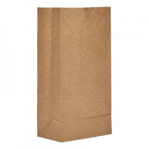 "Genpak Grocery Paper Bags, 35 lbs Capacity, #8, 6.13""w x 4.17""d x 12.44""h, Kraft"