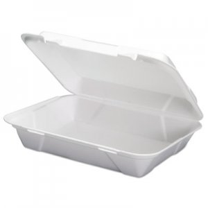 Genpak Foam Hoagie Hinged Container, White, 9 3/4 x 3 2/5 x 13, 200/CT, 100/Bag, 2