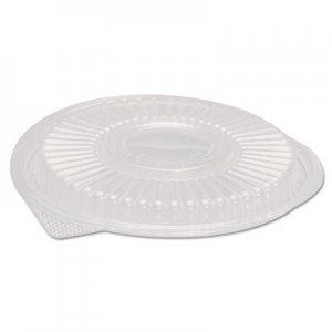 """Genpak Plastic Dome Lid, Black, Round, 10 1/3"""" Dia, 75/PK 4 PK/CT GNPFP916 FP916---"""