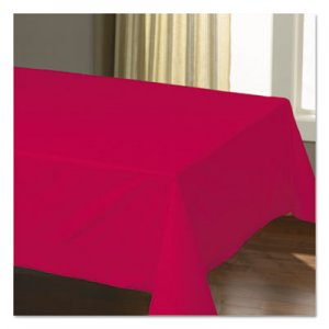 "Hoffmaster Cellutex Table Covers, Tissue/Polylined, 54"" x 108"", Red, 25/Carton HFM220611 220611"