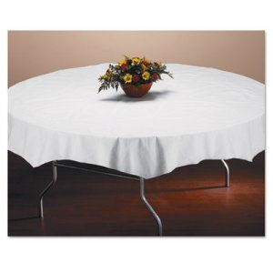 "Hoffmaster Tissue/Poly Tablecovers, 82"" Diameter, White, 25/Carton HFM210101 210101"