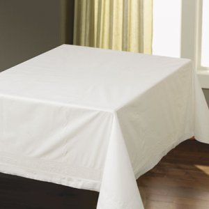 "Hoffmaster Tissue/Poly Tablecovers, Square, 82"" x 82"", White, 25/Carton HFM210086 210086"