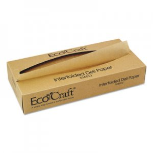 Bagcraft EcoCraft Interfolded Soy Wax Deli Sheets, 12 x 10 3/4, 500/Box, 12 Boxes/Carton BGC016012 1601216012