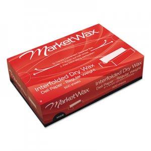 Bagcraft QF12 Interfolded DryWax Deli Paper, 12 x 10 3/4, White, 500/Box, 12 Boxes/Carton BGC011012 P011012