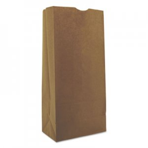 "Genpak Grocery Paper Bags, 25 lbs, 8.25"" x 18"", Kraft, 500 Bags BAGGK25500 18424"