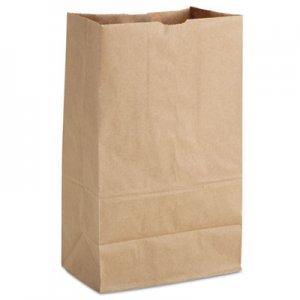 "Genpak Grocery Paper Bags, 9.75"" x 16.38"", Kraft, 500 Bags BAGSK1852T 81186"