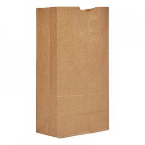 """Genpak Grocery Paper Bags, 20 lbs, 8.25"""" x 16.13"""", Kraft, 500 Bags BAGGH20 29820"""