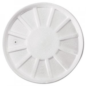 Dart Vented Foam Lids, 8-44oz Cups, White, 50/Bag, 10 Bags/Carton DCC32RL 32RL