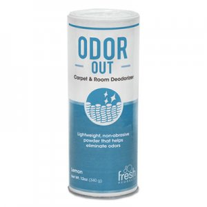 Fresh Products Odor-Out Rug/Room Deodorant, Lemon, 12 oz Shaker Can, 12/Box FRS121400LE 12-14-OO-LE-F