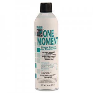 Franklin Cleaning Technology One Moment Foamy Cleaner and Disinfectant, Citrus, 18oz. Aerosol Can, 12/CT FKLF803215 FRK F803215