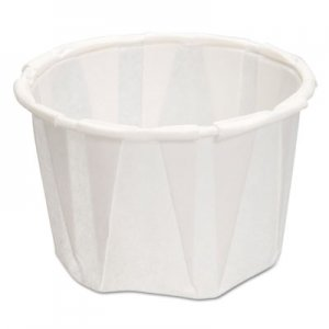 Genpak Paper Portion Cups, 1.25 oz., White, 250/Bag, 20 Bags/Carton GNPF125 F125---