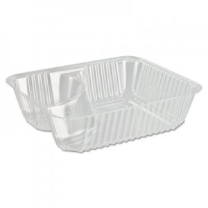 Dart ClearPac Small Nacho Tray, 2-Compartments, Clear, 125/Bag DCCC56NT2 C56NT2