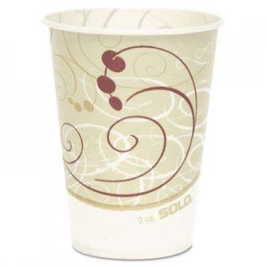Dart Waxed Paper Cold Cups, 9 oz., Symphony Design, 100/Bag SCCR9NSYM R9N-J8000