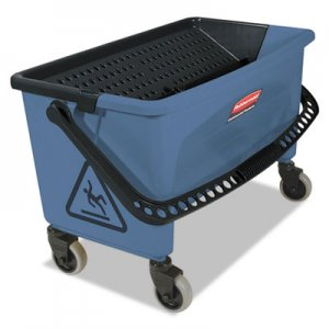 Rubbermaid Commercial Microfiber Finish Bucket, with Lid, 3 gal, Blue RCPQ930 FGQ93000BLUE