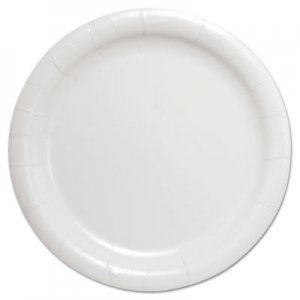 "Dart Bare Eco-Forward Clay-Coated Paper Dinnerware, Plate, 9"" Diameter, White SCCHP9S HP9S-2050"