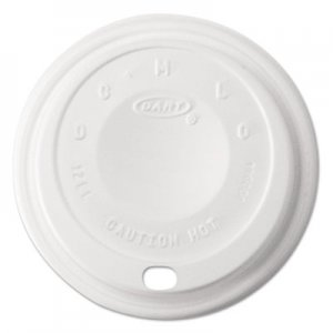 Dart Cappuccino Dome Sipper Lids, 12 oz, White DCC12EL 12EL