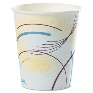 Dart Paper Water Cups, 5 oz., Cold, Meridian Design, Multicolored, 100/Sleeve, 25 Sleeves/Carton SCC52MD 52MD-0062