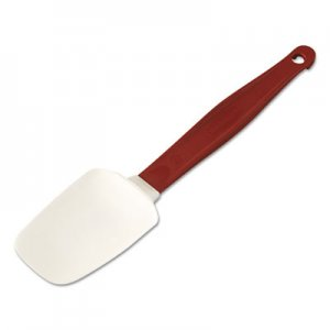 "Rubbermaid Commercial High Heat Scraper Spoon, Red w/White Blade, 9-1/2"" RCP1966RED FG196600RED"