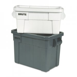 Rubbermaid Commercial Brute Tote Box, 20gal,Gray RCP9S31GRAEA FG9S3100GRAY