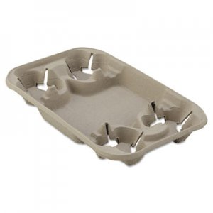 Chinet StrongHolder Molded Fiber Cup/Food Tray, 8-22oz, Four Cups, 250/Carton HUH20969CT 20969
