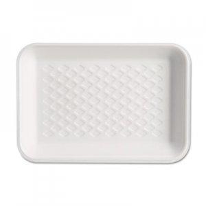 Genpak Supermarket Tray, Foam, White, 8-1/4x5-3/4x1, 125/Bag GNPW1002 W1002---
