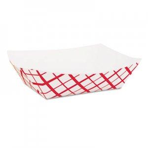 SCT Paper Food Baskets, 1lb, Red/White, 1000/Carton SCH0413 SCH 0413